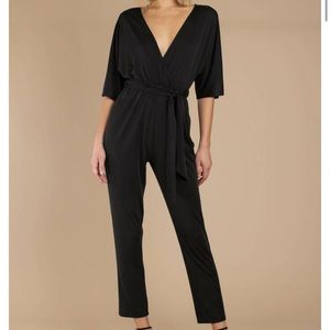 Black straight legged jumpsuit